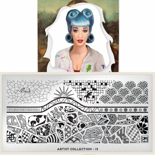 Пластина MoYou London Artist 13Пластины для стемпинга MoYou London<br>Коллекция Artist<br>