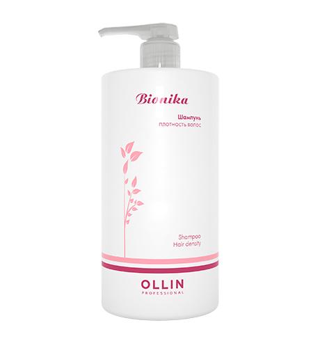 Ollin, Шампунь BioNika, Плотность волос, 750 млШампуни<br>Нежныйшампунь для «уставших» волос, нуждающихся в дополнительном питании<br>