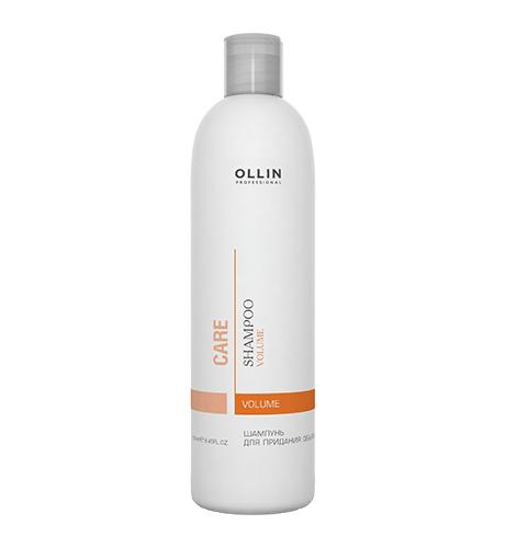 Ollin, Шампунь Care, д/придания объема, 250 млШампуни<br>Шампунь мягко очищает волосы и кожу головы, укрепляя внутреннюю структуру волоса<br>
