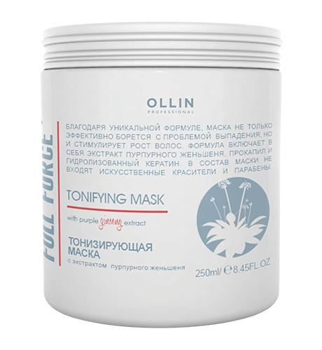 Ollin, Маска Full Force, тонизирующая с экстр. пурпурного женьшеня, 250 млМаски для волос<br>Эффективно борется с проблемой выпадения волос и обладает сильным тонизирующим действием<br>
