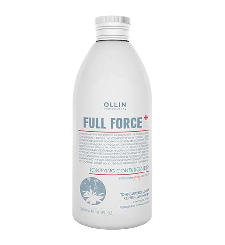 Ollin, Кондиционер Full Force, тонизирующий с экстрактом пурпур. женьшеня, 300 мл (Ollin Professional)