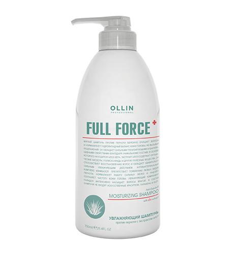 Ollin, Шампунь Full Force, увлажняющий против перхоти с экстр. алоэ, 750 мл (Ollin Professional)