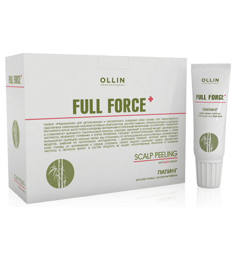 Ollin, Пилинг Full Force, д/кожи головы с экстр. бамбука 10х15мл (упак) (Ollin Professional)