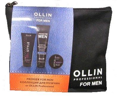 Ollin, Набор Premier For Men, для мужчинШампуни<br>Набор (Шампунь для волос и тела освежающий 250мл + Воск для волос 50г + Гель для укладки волос 200мл)<br>