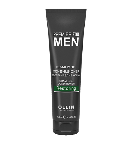 Ollin, Шампунь-кондиционер Premier for Men, восстанавливающий, 250 мл (Ollin Professional)
