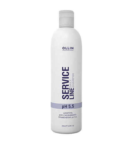 Ollin, Шампунь Service Line, для ежедневного применения рН5,5, 250 млШампуни<br>Шампунь для ежедневного применения подходит для всех типов волос<br>