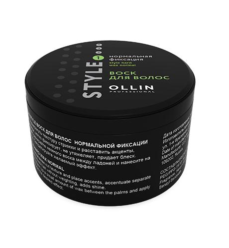Ollin, Воск Style, д/волос нормальной фиксации, 50 млСредства для укладки<br>Пластичный воск для финишной укладки<br>