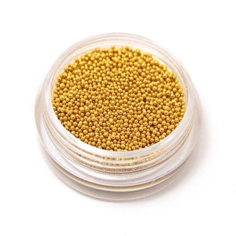 NelTes, Металлизированные бульонки для дизайна ногтей (золото)Бульонки<br>Бульонки металлизированные<br>