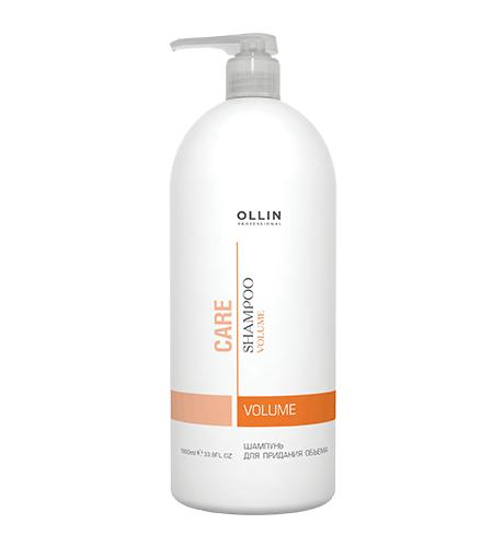 Ollin, Шампунь Care, для придания объема, 1000 млШампуни<br>Мягко очищает волосы и кожу головы, укрепляя внутреннюю структуру волоса<br>