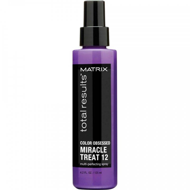 Matrix, Спрей Color Obsessed Miracle Treat 12, для окрашенных волос, 125 млСпреи<br>Защищает от выцветания и сохраняет насыщенность цвета окрашенных волос<br>