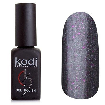 Kodi, Гель-лак № 144 (8ml)Kodi Professional <br>Гель-лак графитово-серебряный, перламутровый, с мелкими розовыми блестками, плотный, 8мл.<br>
