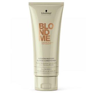 Schwarzkopf, Кондиционер BlondMe, кератиновое восстановление, 200 млБальзамы и Кондиционеры<br>Обеспечивает защиту и питание обесцвеченным и осветленным волосам<br>