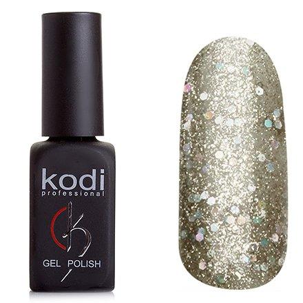 Kodi, Гель-лак № 148 (8ml)Kodi Professional <br>Гель-лак прозрачно-золотой с добавлением крупных голографических блесток, плотный, 8мл.<br>