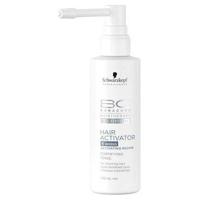Schwarzkopf, Тоник BC Hair Activator, укрепляющий для роста волос, 100 млЛечебные средства <br>Активирующий тоник для редеющих волос<br>