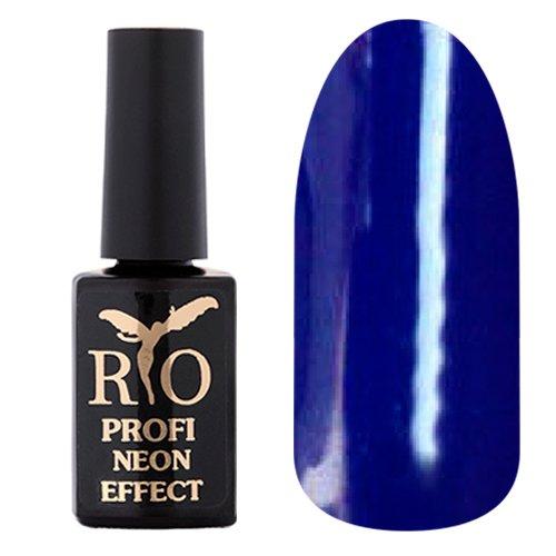 Rio Profi, Гель-лак Neon Effect №005Rio Profi<br>Гель-лак неон, синий, плотный<br>