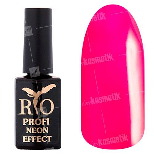 Rio Profi, Гель-лак Neon Effect №007Rio Profi<br>Гель-лак неон, малиновый, плотный<br>