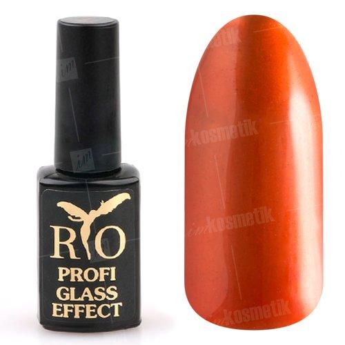 Rio Profi, Гель-лак Glass Effect №3Rio Profi<br>Гель-лак витражный, оранжевый, полупрозрачный<br>