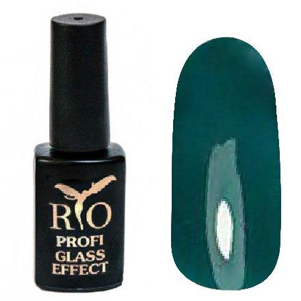 Rio Profi, Гель-лак Glass Effect №6Rio Profi<br>Гель-лак витражный, бирюзовый, полупрозрачный<br>