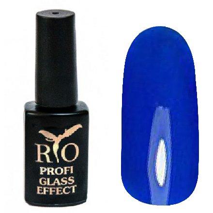 Rio Profi, Гель-лак Glass Effect №7Rio Profi<br>Гель-лак витражный, синий, полупрозрачный<br>