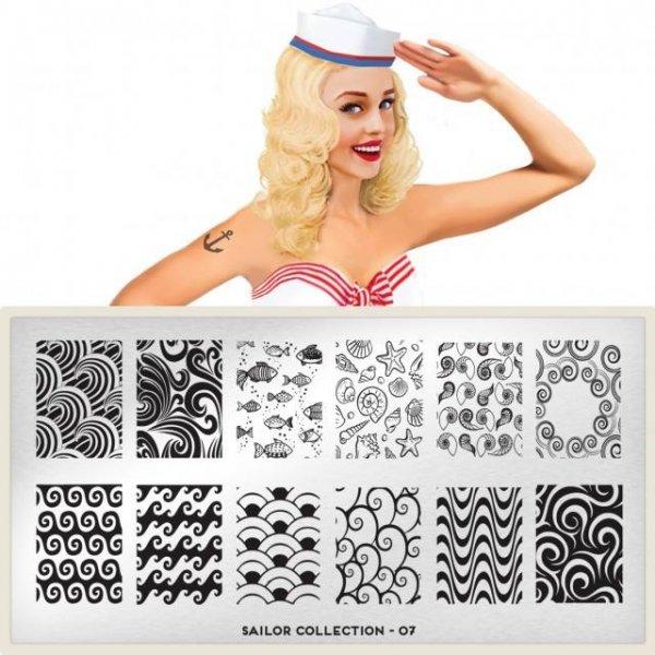 MoYou London, Пластина для стемпинга Sailor 07Пластины для стемпинга MoYou London<br>Коллекция Sailor<br>
