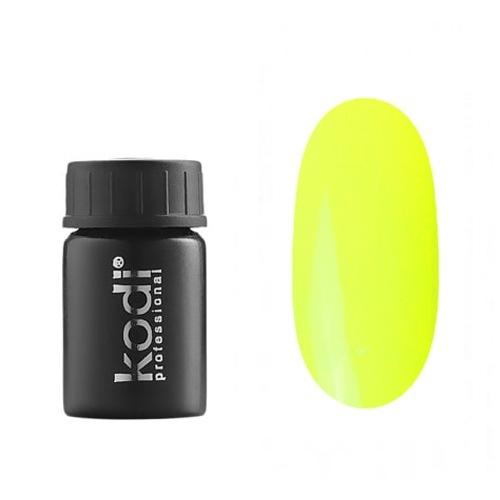 Kodi, Гель-краска №161 (4ml)Гель краски Kodi Professional<br>Гель-краска для дизайна без липкого слоя неоный желто-зеленый, без блесток, перламутровая, плотная, 4 мл.<br>