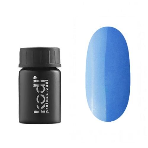 Kodi, Гель-краска №163 (4ml)Гель краски Kodi Professional<br>Гель-краска для дизайна без липкого слоя неоный сине-голубой, без блесток, перламутровая, плотная, 4 мл.<br>
