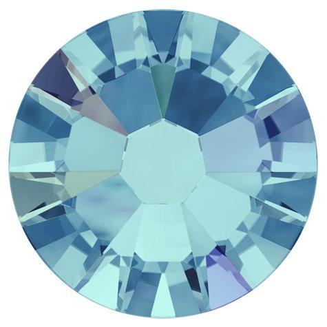 NelTes, Стразы АВ Аквамарин 2,8 мм (30шт.)Стразы с голографическим эффектом<br>Стразы диаметром 2,8 мм для неповторимого, сияющего маникюра.<br>