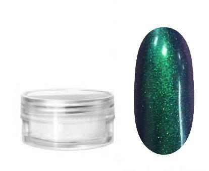 NelTes, Втирка для дизайна ногтей - эффект хамелеон №6Зеркальная втирка<br>Втирка для создания эффектного маникюрахамелеон зелено-фиолетовый<br>