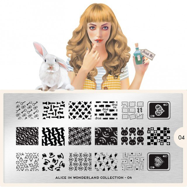 MoYou London, Пластина для стемпинга Alice 04Пластины для стемпинга MoYou London<br>Коллекция Alice<br>