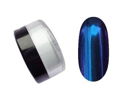 Bluesky, Втирка с эффектом северное сияние №07Зеркальная втирка<br>Втирка с эффектом северное сияние, сине-фиолетовый<br>