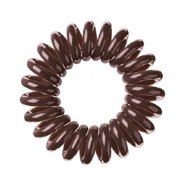 Invisibobble, Резинка-браслет для волос - ORIGINAL Pretzel brownРезинка-браслет Invisibobble<br>Резинки для волос Invisibobble коричневый(3 шт.)<br>