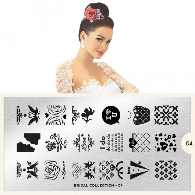 Пластина MoYou London Bridal 04Пластины для стемпинга MoYou London<br>Коллекция Bridal<br>