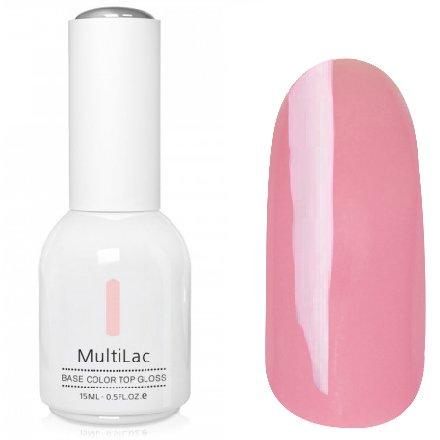 ruNail, MultiLac №2313 (15 мл.)Однофазный RuNail<br>Гель-лак 4 в 1, цвет розовый<br>