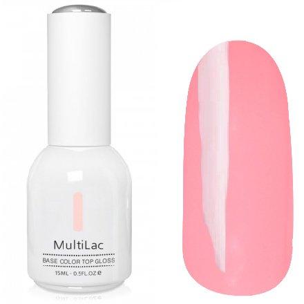 ruNail, MultiLac №2314 (15 мл.)Однофазный RuNail<br>Гель-лак 4 в 1, цвет бледно-розовый<br>