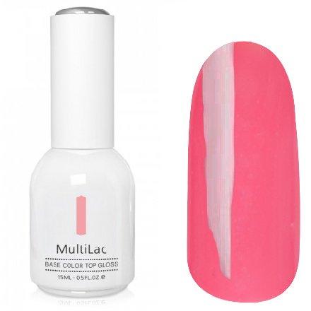 ruNail, MultiLac №2317 (15 мл.)Однофазный RuNail<br>Гель-лак 4 в 1, цвет розовый<br>