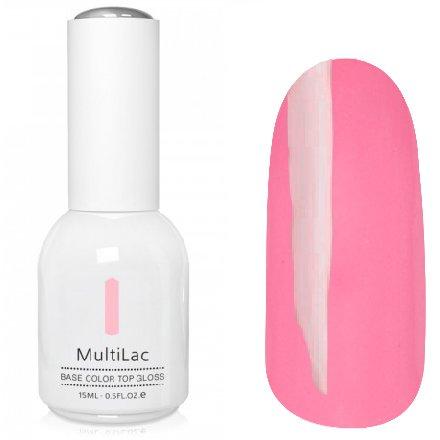 ruNail, MultiLac №2318 (15 мл.)Однофазный RuNail<br>Гель-лак 4 в 1, цвет розовый<br>