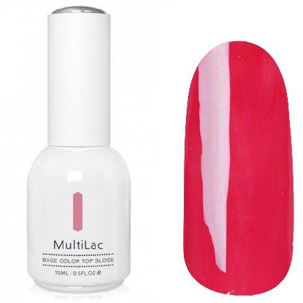 ruNail, MultiLac №2322 (15 мл.)Однофазный RuNail<br>Гель-лак 4 в 1, цвет темно-розовый<br>