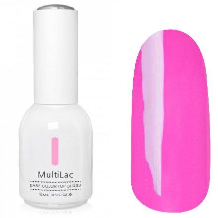 ruNail, MultiLac №2324 (15 мл.)Однофазный RuNail<br>Гель-лак 4 в 1, цвет светлая фуксия<br>