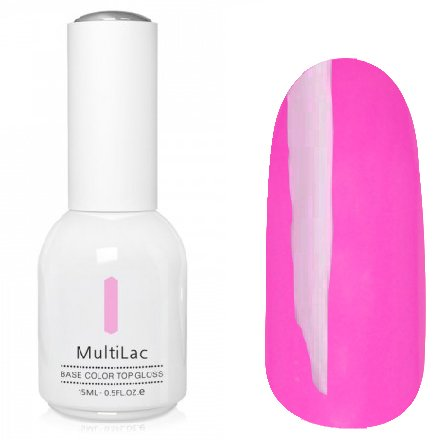 ruNail, MultiLac №2325 (15 мл.)Однофазный RuNail<br>Гель-лак 4 в 1, цвет фуксия<br>