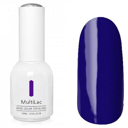 ruNail, MultiLac №2333 (15 мл.)Однофазный RuNail<br>Гель-лак 4 в 1, цвет чернильно-синий<br>