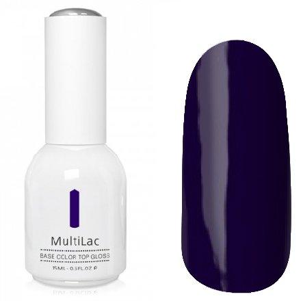 ruNail, MultiLac №2334 (15 мл.)Однофазный RuNail<br>Гель-лак 4 в 1, цвет черная смородина<br>