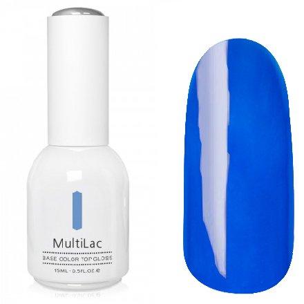 ruNail, MultiLac №2339 (15 мл.)Однофазный RuNail<br>Гель-лак 4 в 1, цвет голубой<br>