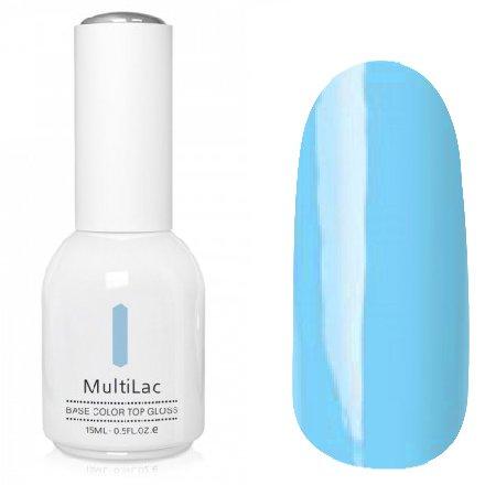 ruNail, MultiLac №2341 (15 мл.)Однофазный RuNail<br>Гель-лак 4 в 1, цвет бирюзово-голубой<br>