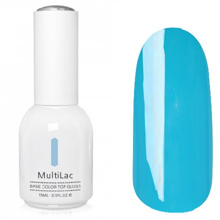 ruNail, MultiLac №2342 (15 мл.)Однофазный RuNail<br>Гель-лак 4 в 1, цвет бирюзовый<br>