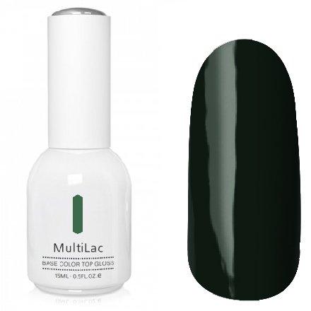ruNail, MultiLac №2345 (15 мл.)Однофазный RuNail<br>Гель-лак 4 в 1, цвет темно-зеленый (мурано)<br>