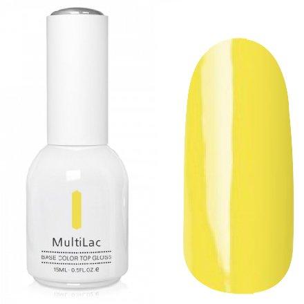 ruNail, MultiLac №2346 (15 мл.)Однофазный RuNail<br>Гель-лак 4 в 1, цвет желтый<br>