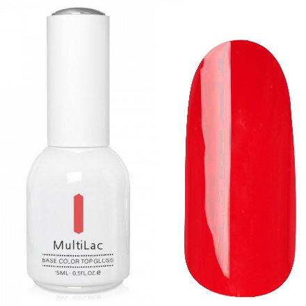 ruNail, MultiLac №2352 (15 мл.)Однофазный RuNail<br>Гель-лак 4 в 1, цвет красный<br>