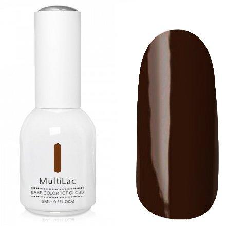 ruNail, MultiLac №2355 (15 мл.)Однофазный RuNail<br>Гель-лак 4 в 1, цвет калина коричневый<br>