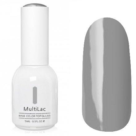 ruNail, MultiLac №2357 (15 мл.)Однофазный RuNail<br>Гель-лак 4 в 1, цвет серый<br>