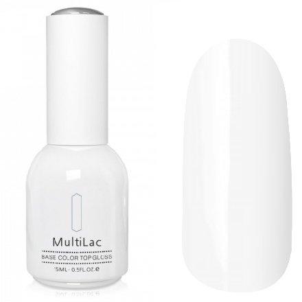 ruNail, MultiLac №2359 (15 мл.)Однофазный RuNail<br>Гель-лак 4 в 1, цвет белый, подойдет для французского маникюра<br>